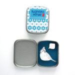Boite réconfort minute personnalisée oiseau turquoise bulle 150x150 - Boite Réconfort Minute personnalisable 1 bulle