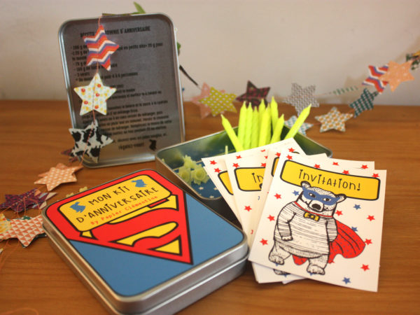 boite kit d'anniversaire wonder boy