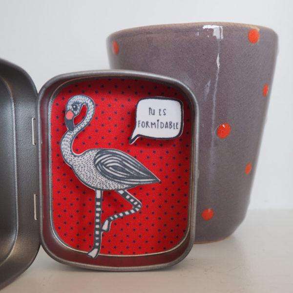 boite reconfort flamingo formidable 600x600 - Boite Réconfort Minute Flamant Formidable